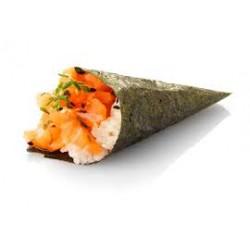Temaki tartare de saumon ciboulette